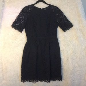 Navy lace Madewell dress